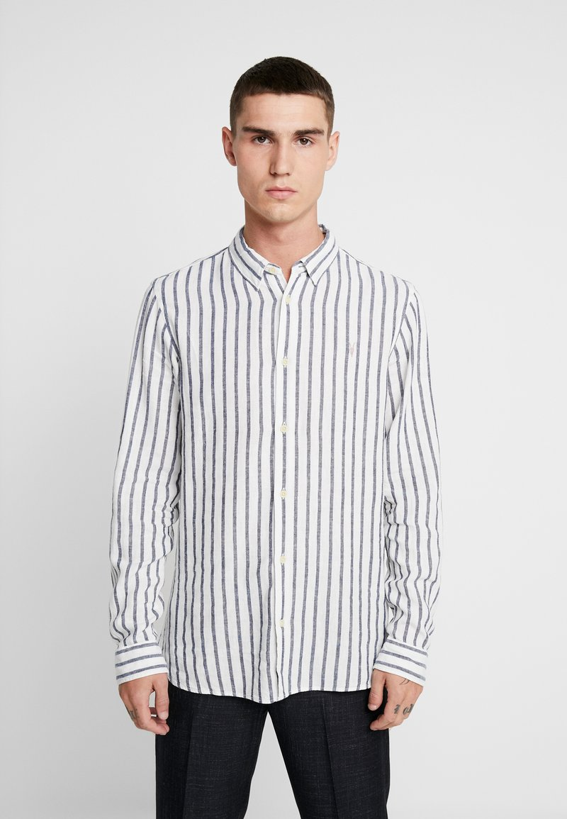 AllSaints - DEDHAM  - Shirt - white/ink navy
