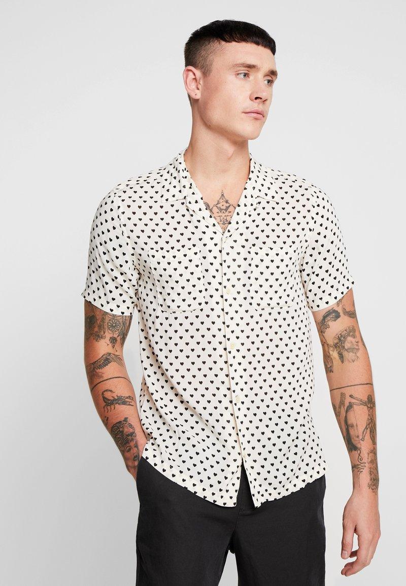 AllSaints - VALENTINE SHIRT - Skjorter - ecru white/black