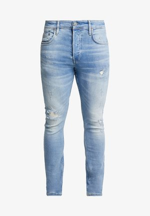 CIGARETTE DAMAGED - Slim fit jeans - light indigo blue