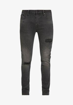 CIGARETTE DAMAGED - Jeans slim fit - washed black