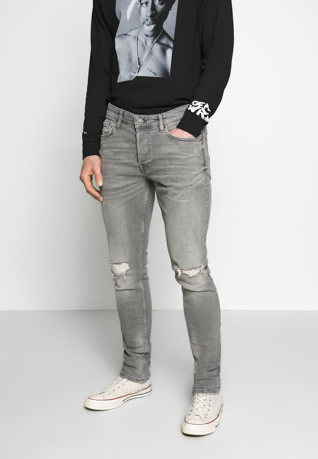 REX DAMAGED - Jeans Slim Fit - grey