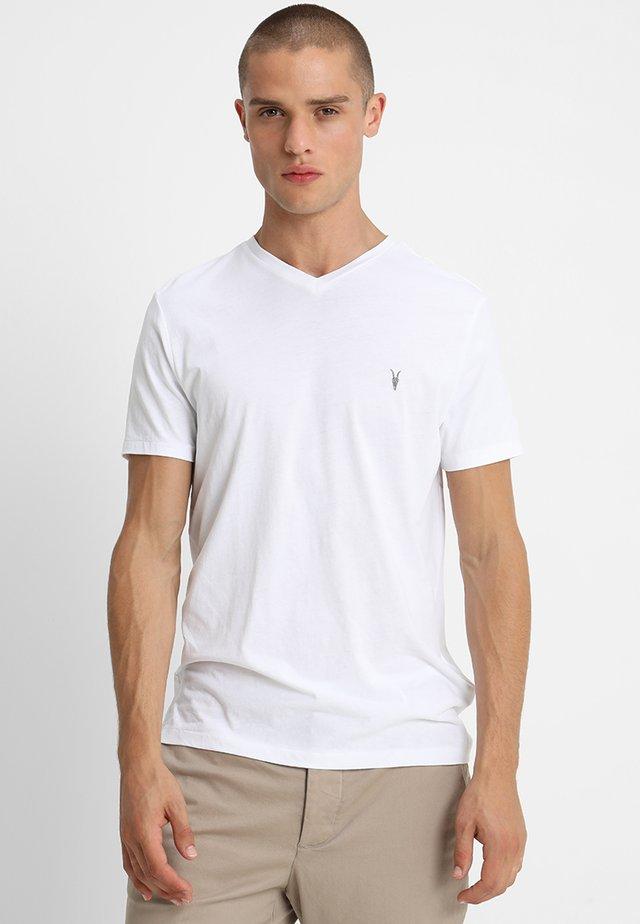 TONIC V-NECK - T-shirts basic - optic white