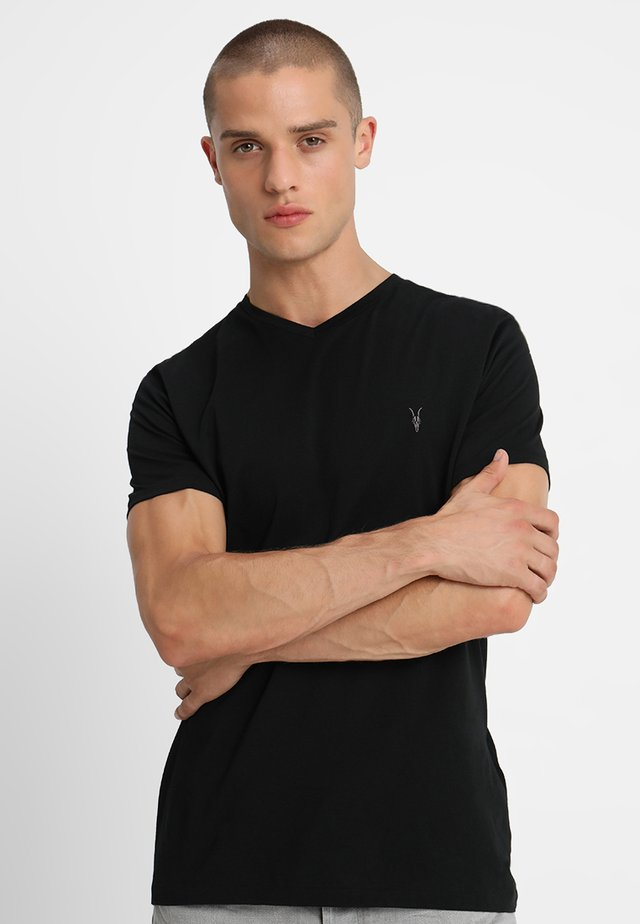 TONIC V-NECK - T-Shirt basic - jet black