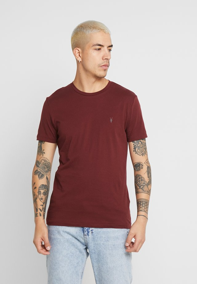 TONIC CREW - T-Shirt basic - maroon red
