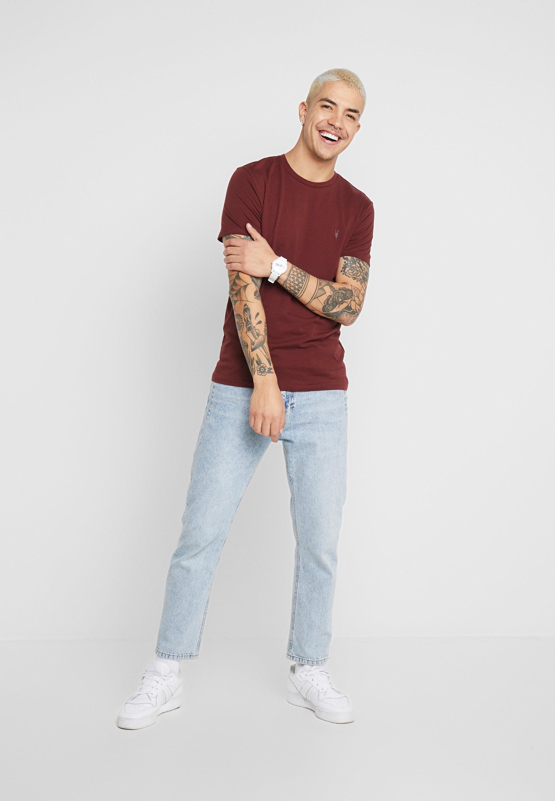 AllSaints TONIC CREW - T-shirt basic - maroon red