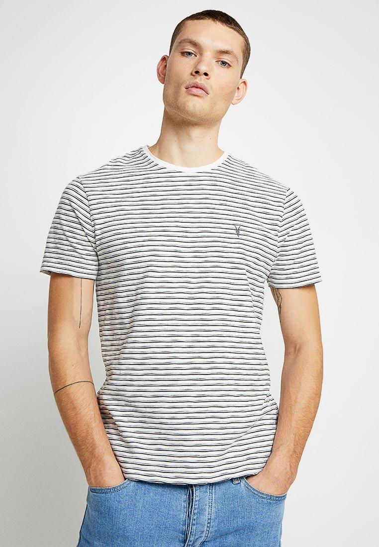 AllSaints - MANA CREW - Print T-shirt - chalk/washed black