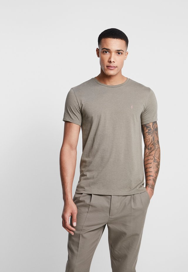 COOPER CREW - T-Shirt basic - thorn green marl