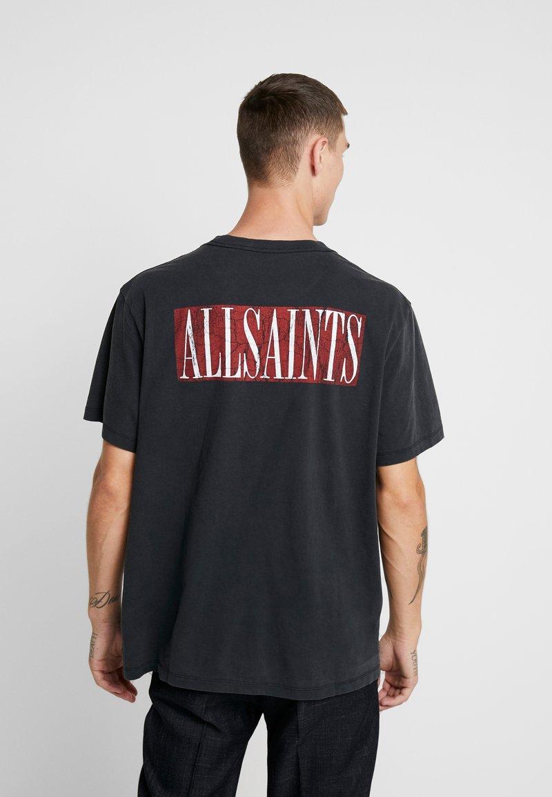 CrewT Imprimé Integers Allsaints Jet Black red shirt PXkuiZ