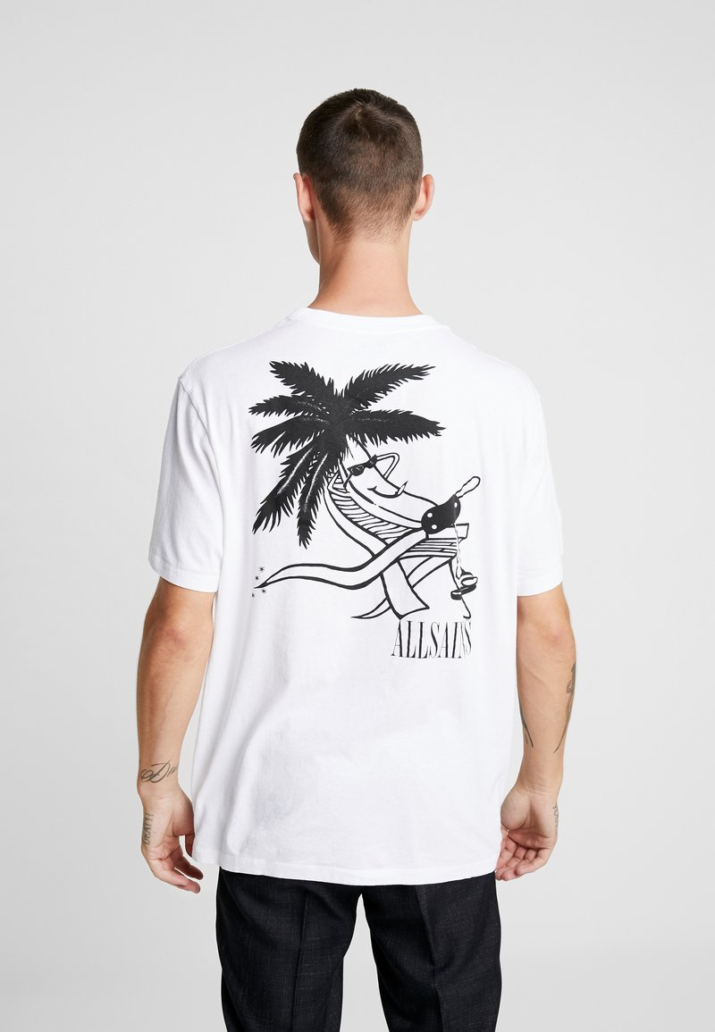 AllSaints - APPEALING CREW - T-shirts med print - optic white/black