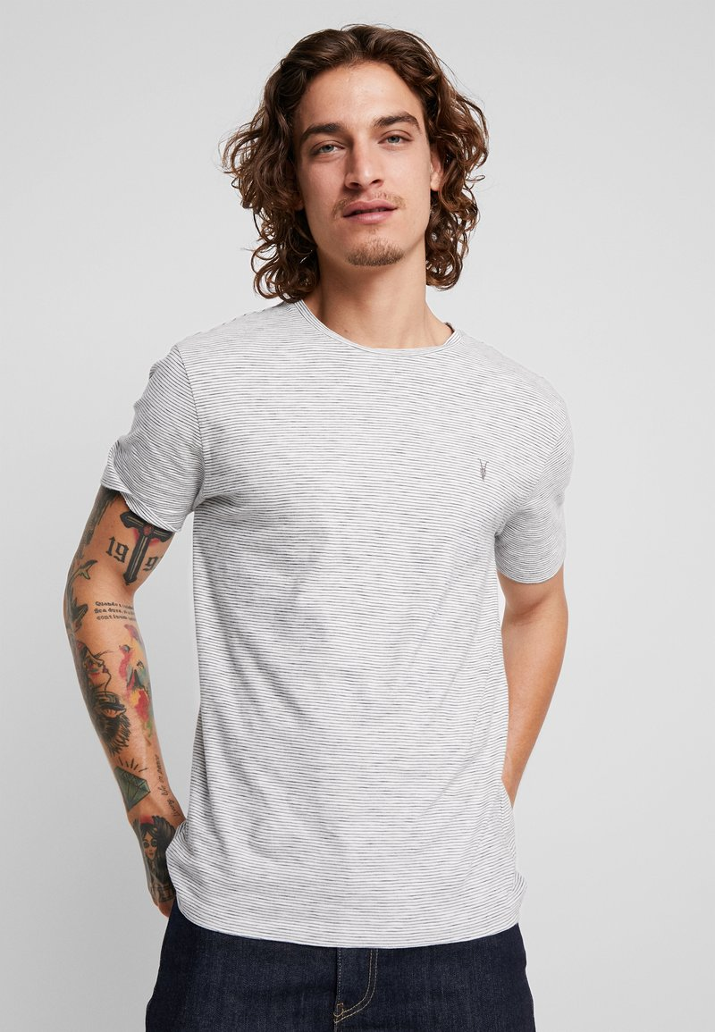 AllSaints - TONIC COHEN CREW - T-shirt print - chalk/black