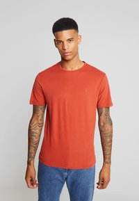 AllSaints - BRACE CREW - T-shirt basic - brick red - 0