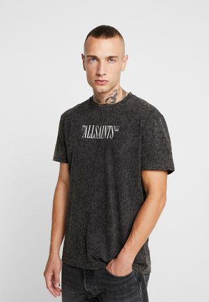 BRACKETS LEO CREW  - T-shirt z nadrukiem - vintage black/grey