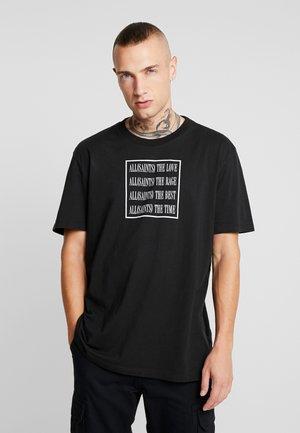 CUBE CREW - T-shirt imprimé - jet black