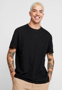 AllSaints - MATEO  CREW - T-shirts - black - 0
