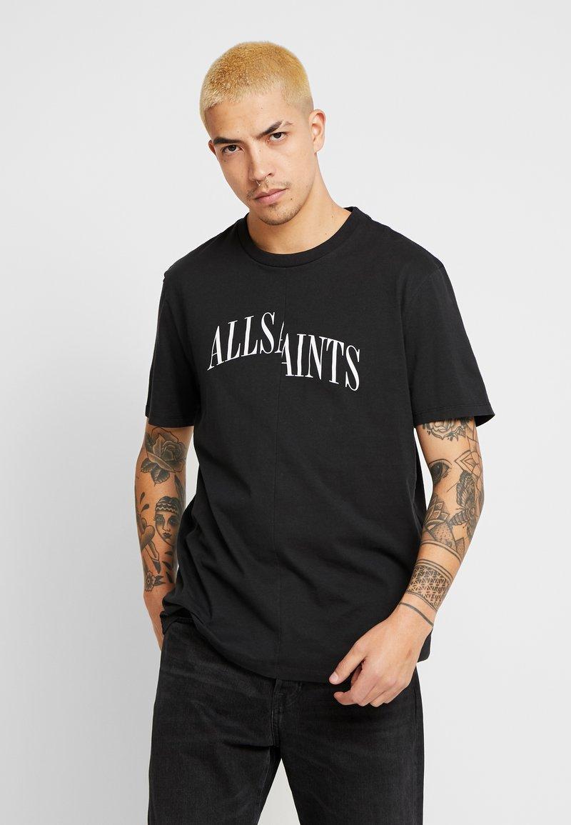 AllSaints - DROPOUT CREW - T-shirt z nadrukiem - jet black