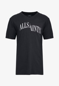 AllSaints - DROPOUT CREW - T-shirt z nadrukiem - jet black - 3