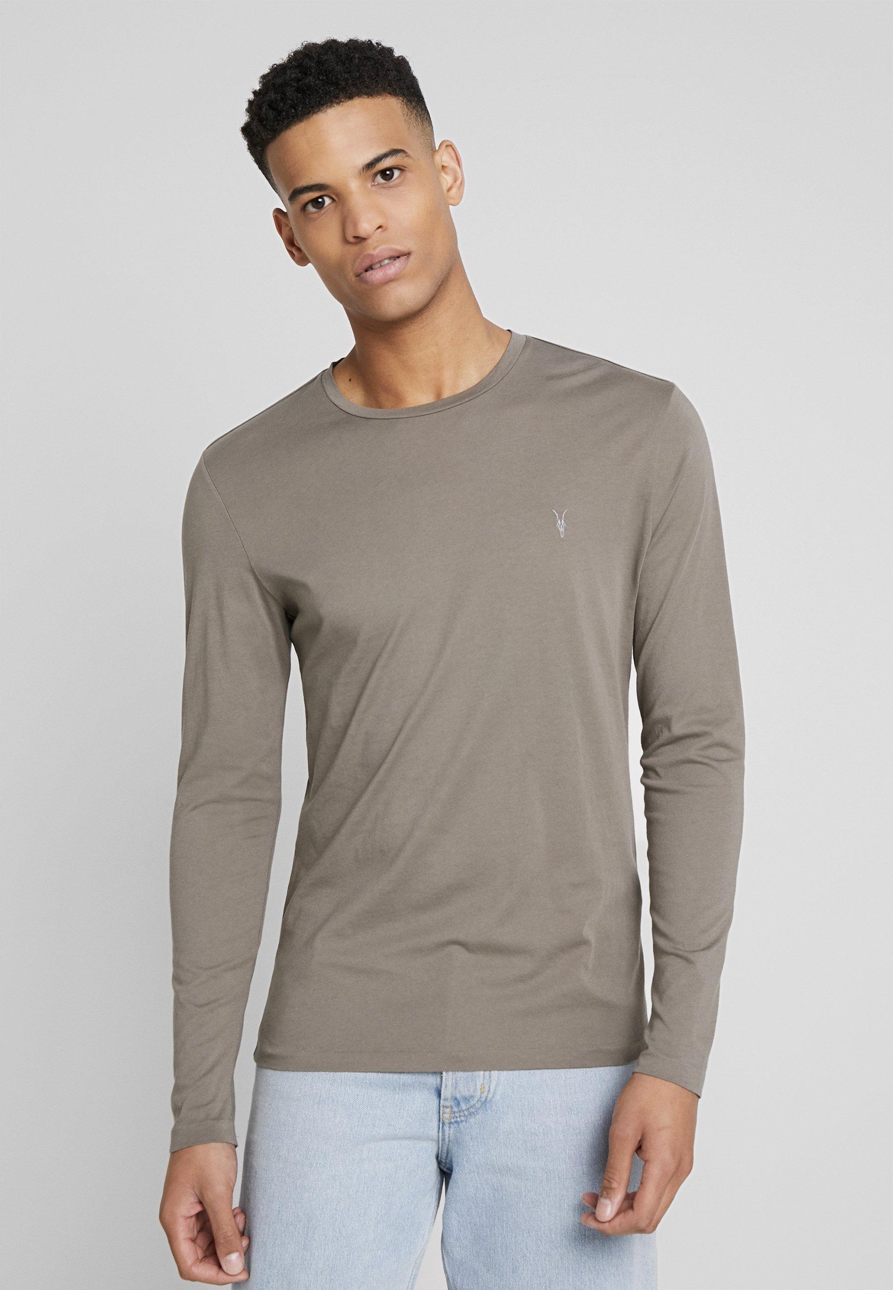 Allsaints Tonic Crew - Langærmede T-shirts Pebble Grey