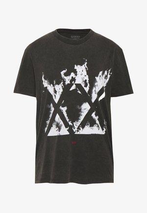 BURN CREW - T-shirt print - vintage black