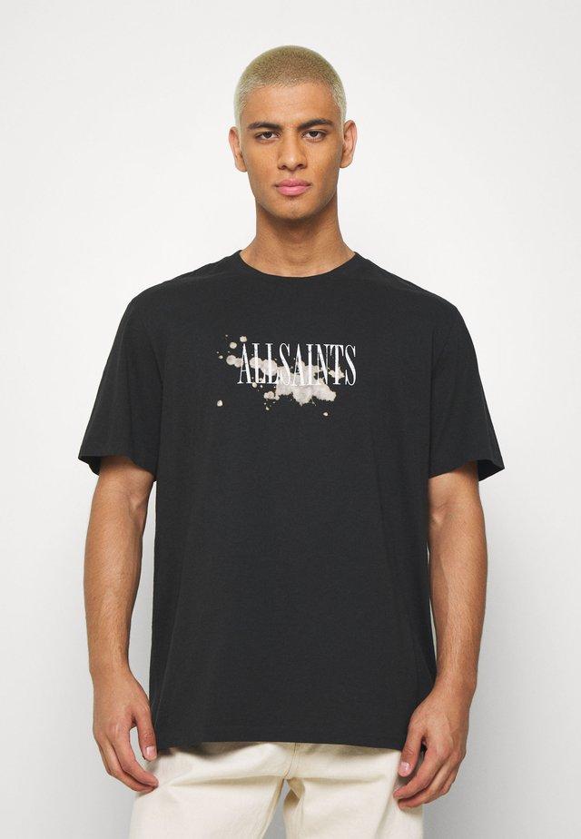 BLEACH SPLASH CREW - T-shirt imprimé - jet black