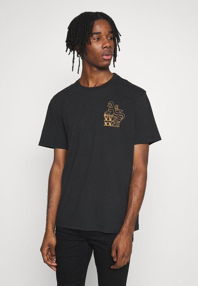 EX MONO CREW - T-shirt med print - jet black