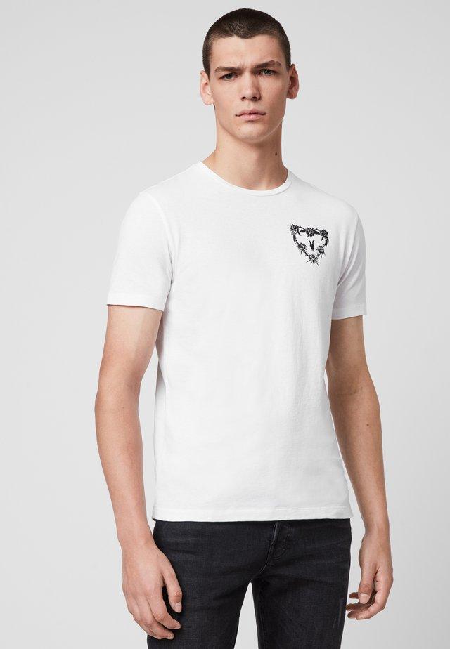 HEART STRING - T-shirts print - white
