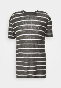 AllSaints - VEHICLE CREW - T-shirt imprimé - washed black/chalk white - 4