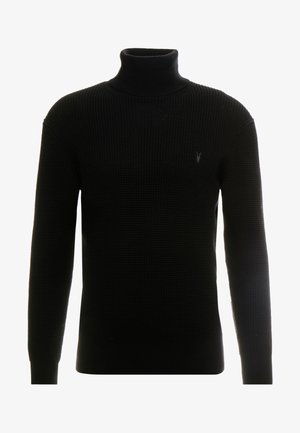 WELLS ROLL NECK - Pullover - black