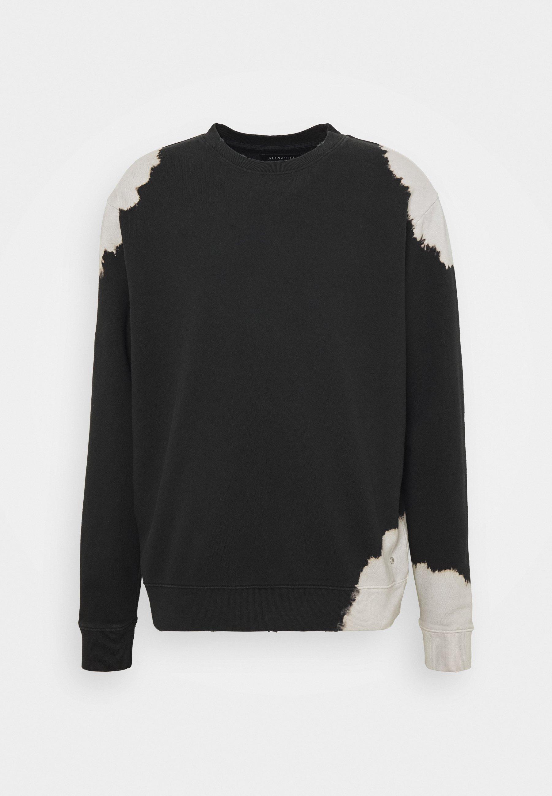 AllSaints OVID CREW - Bluza - black/white