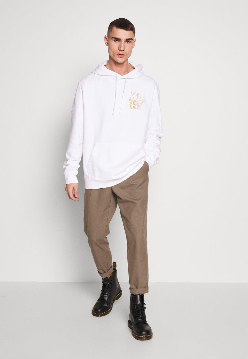 AllSaints MONO HOODY - Hoodie - optic white
