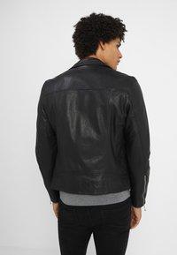 AllSaints - HOLT BIKER - Leather jacket - black - 2