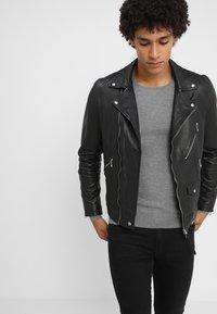 AllSaints - HOLT BIKER - Leather jacket - black - 0