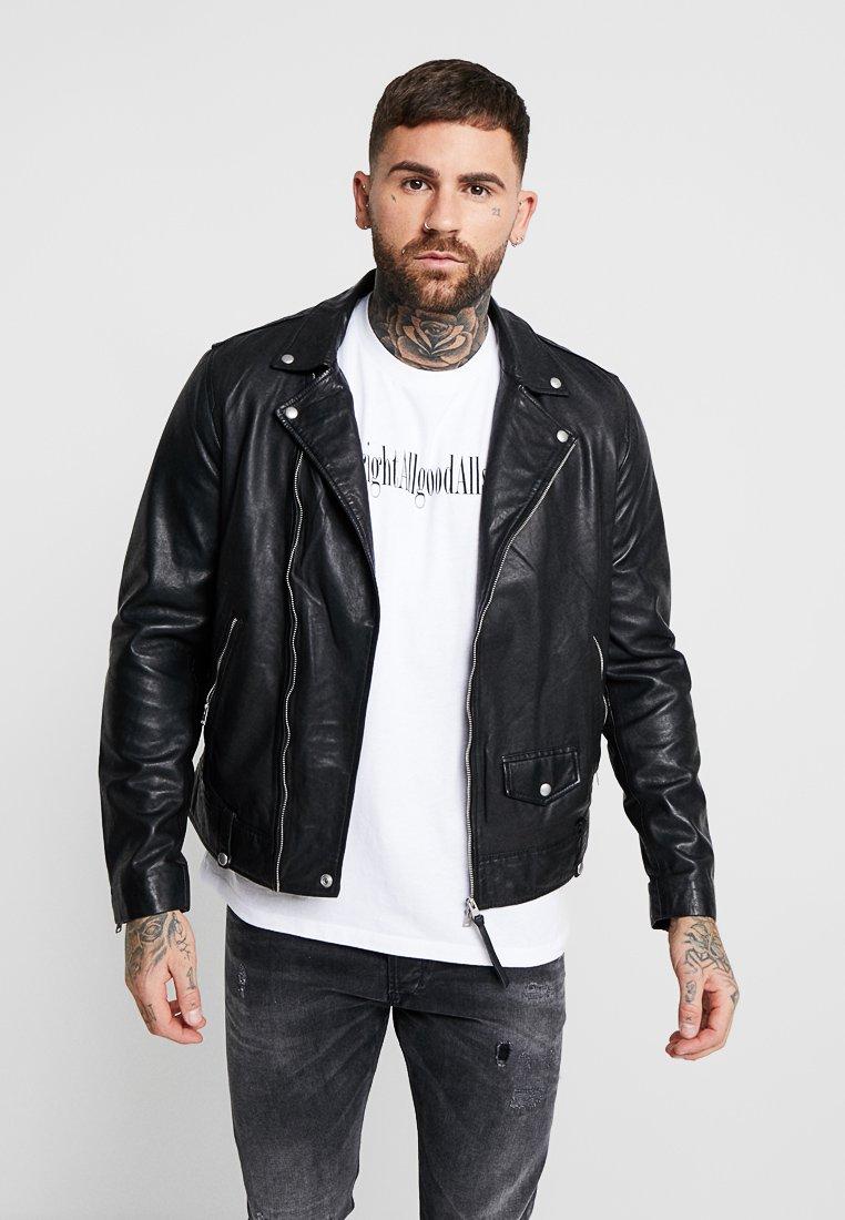 AllSaints - BIKER - Leather jacket - black