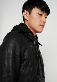 AllSaints - WOODLEY BIKER - Leather jacket - black - 5