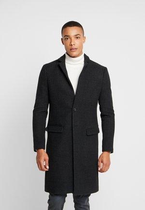 BURGE COAT - Classic coat - black/charcoal