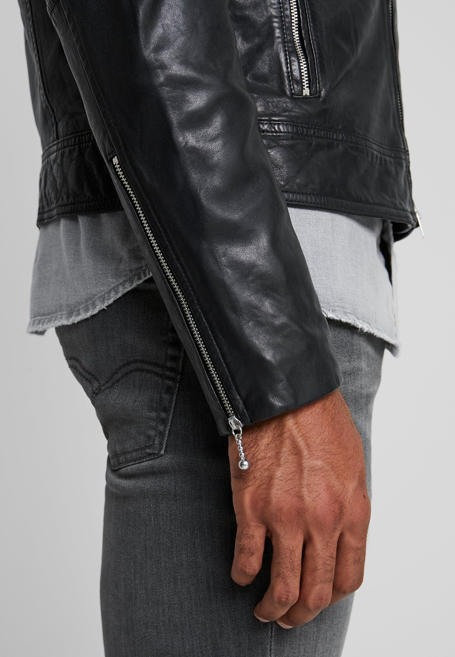 Versace Jeans Couture CAPOSPALLA Leren jas nero Zalando.nl