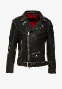 AllSaints - HAWLEY BIKER - Veste en cuir - black - 4