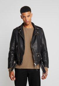AllSaints - HAWLEY BIKER - Veste en cuir - black - 0