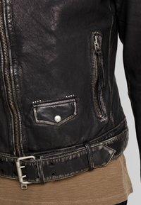 AllSaints - HAWLEY BIKER - Giacca di pelle - black - 5