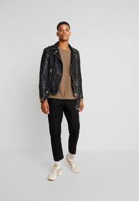 AllSaints - HAWLEY BIKER - Veste en cuir - black - 1