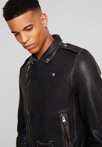 AllSaints - HAWLEY BIKER - Veste en cuir - black - 3