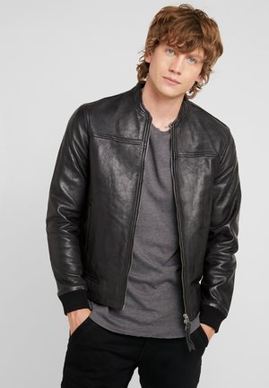 MARSH JACKET - Leren jas - black