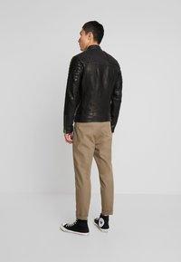 AllSaints - RIGBY BIKER - Leren jas - black - 2