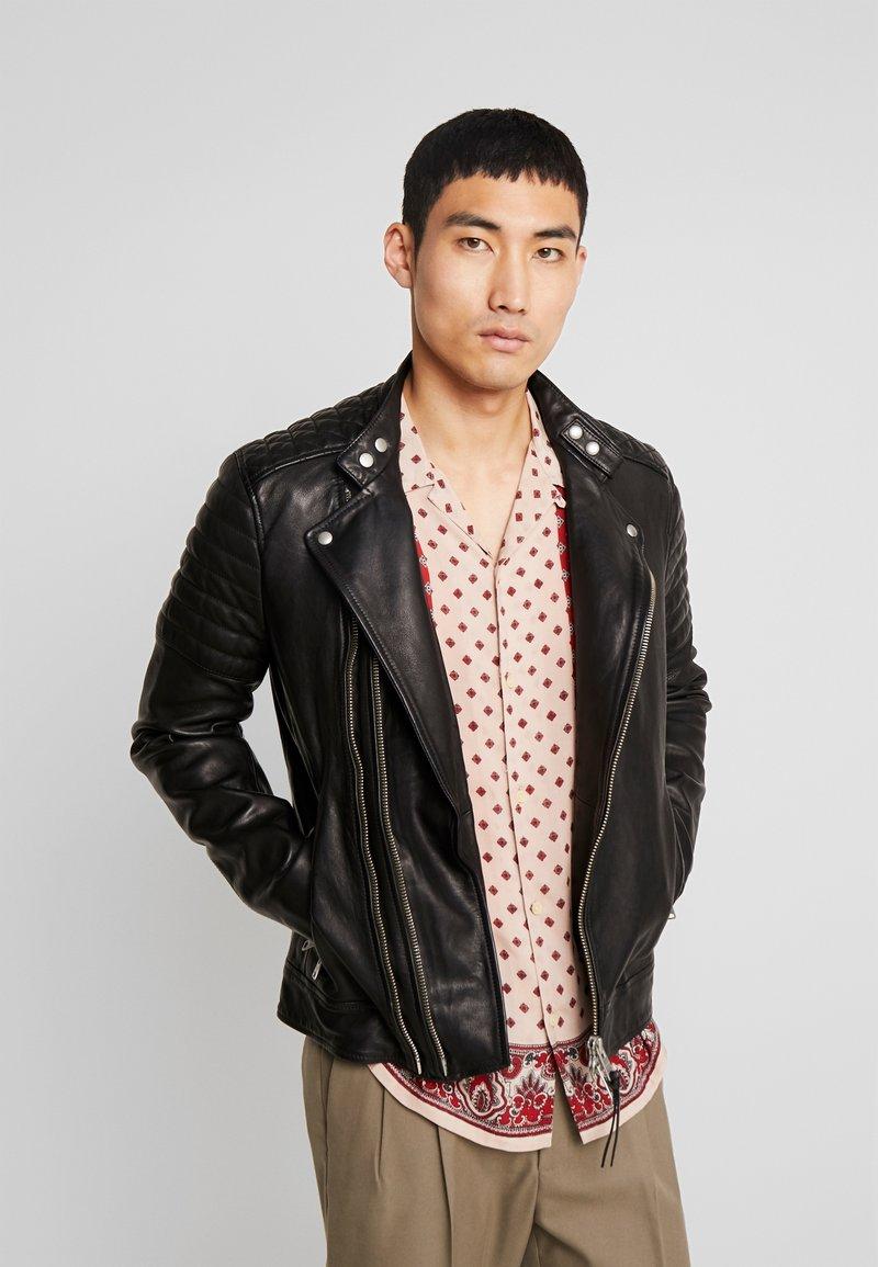 AllSaints - RIGBY BIKER - Leather jacket - black