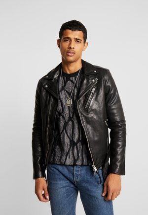 RIGG BIKER - Leather jacket - black
