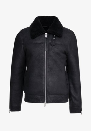 ESTORIA JACKET - Kožená bunda - black