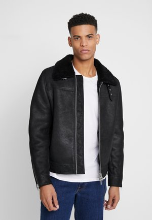 ESTORIA JACKET - Leather jacket - black