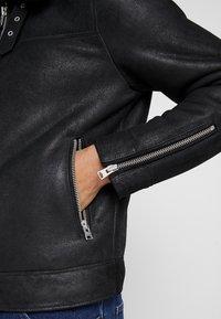 AllSaints - ESTORIA JACKET - Kožená bunda - black - 5
