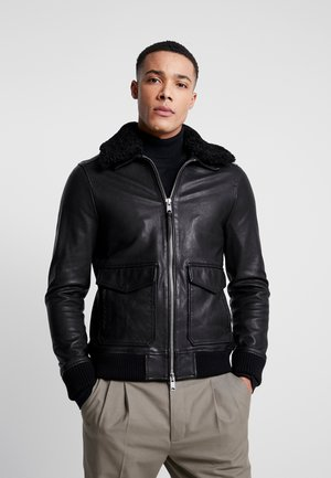 PHOENIX AVIATOR - Leather jacket - black