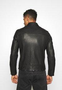 AllSaints - BONDI BIKER - Leather jacket - black - 2