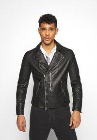 AllSaints - BONDI BIKER - Leather jacket - black - 0